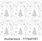 christmas seamless pattern in... | Shutterstock .eps vector #777669787