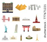 sights of different countries... | Shutterstock .eps vector #777671221