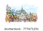 wat phra kaew  holy place and... | Shutterstock .eps vector #777671251