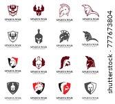 set of spartan logo vector ... | Shutterstock .eps vector #777673804