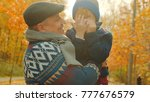 little happy boy and his... | Shutterstock . vector #777676579