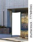 mock up. blank outdoor... | Shutterstock . vector #777684361