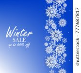 blue winter background with... | Shutterstock .eps vector #777687817