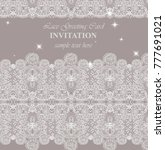 lace card vector. delicate... | Shutterstock .eps vector #777691021