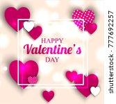 happy valentines day invitation ...   Shutterstock .eps vector #777692257