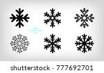 set of vector stylized... | Shutterstock .eps vector #777692701