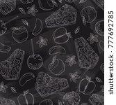 seamless background. pattern of ...   Shutterstock .eps vector #777692785