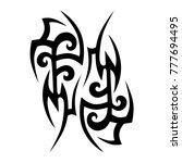 tattoo tribal vector design.... | Shutterstock .eps vector #777694495