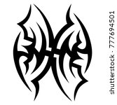 tattoo tribal vector design.... | Shutterstock .eps vector #777694501