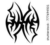 tattoo tribal vector design.... | Shutterstock .eps vector #777694501