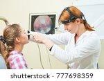ear  nose  throat examining....   Shutterstock . vector #777698359