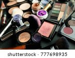 cosmetics of professional make... | Shutterstock . vector #777698935