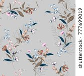 beautiful floral pattern in the ... | Shutterstock .eps vector #777699019