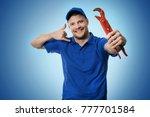 plumbing services   plumber... | Shutterstock . vector #777701584