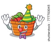 clown fruit basket character... | Shutterstock .eps vector #777703045
