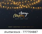 christmas background with... | Shutterstock . vector #777704887