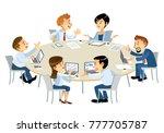 illustration of business... | Shutterstock .eps vector #777705787
