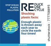 stop plastic pollution reduce ... | Shutterstock .eps vector #777708895