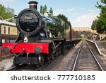 a view of a black steam engine... | Shutterstock . vector #777710185