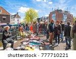 amsterdam april 27   locals... | Shutterstock . vector #777710221
