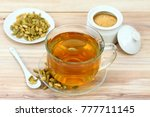 black tea with flavor of... | Shutterstock . vector #777711145