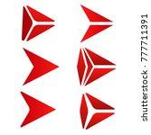 set of red icon arrow next logo ...