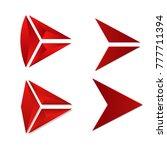 set of red arrow next logo sign ...