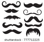 set of  vintage mans mustache.... | Shutterstock . vector #777712225