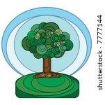 stylized tree illustration  ... | Shutterstock .eps vector #7777144