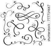 vintage flourish decorative art ... | Shutterstock . vector #777714667