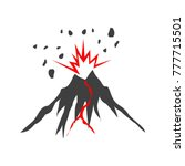 volcanic eruption illustrated... | Shutterstock .eps vector #777715501