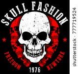 skull t shirt graphic design  | Shutterstock .eps vector #777719524