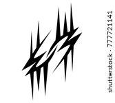 tattoo tribal vector design.... | Shutterstock .eps vector #777721141