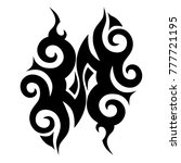 tattoo tribal vector design.... | Shutterstock .eps vector #777721195