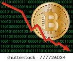 bitcoin crash vector in front... | Shutterstock .eps vector #777726034
