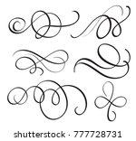 art calligraphy flourish of...   Shutterstock . vector #777728731