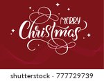 red holiday background with... | Shutterstock . vector #777729739