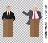 presidential speaks to people... | Shutterstock .eps vector #777734689