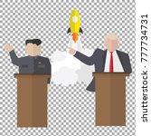 presidential speaks to people... | Shutterstock .eps vector #777734731