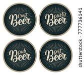 craft beer calligraphic... | Shutterstock .eps vector #777736141
