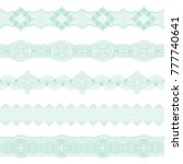 set of seamless borders of... | Shutterstock .eps vector #777740641