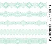 set of seamless borders of... | Shutterstock .eps vector #777740641