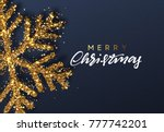 christmas background with... | Shutterstock . vector #777742201