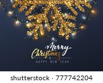 christmas background with... | Shutterstock . vector #777742204