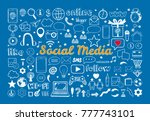 social media icons set. vector... | Shutterstock .eps vector #777743101
