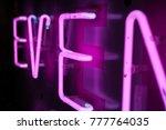 neon sign design element for...   Shutterstock . vector #777764035