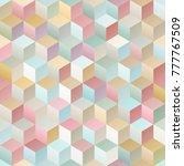 vintage geometric seamless... | Shutterstock .eps vector #777767509