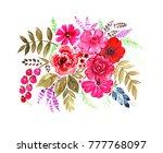 bright  gentle bouquet of... | Shutterstock . vector #777768097