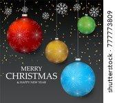 christmas light vector...   Shutterstock .eps vector #777773809