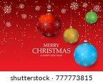 christmas light vector...   Shutterstock .eps vector #777773815